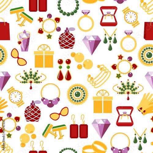 Cotton fabric Jewelry seamless pattern background