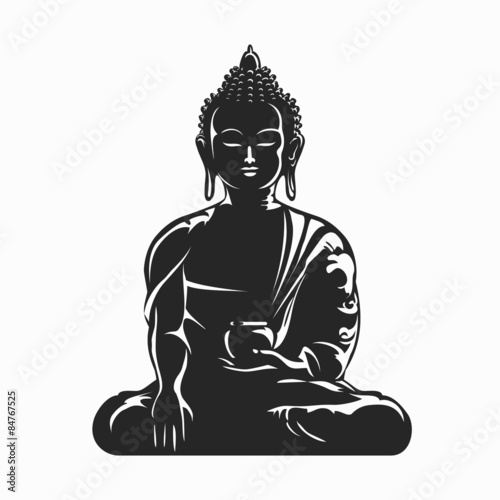 Buddha vector silhouette Fototapeta
