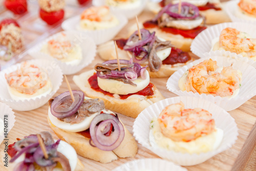 Foto op Canvas Buffet, Bar catering food