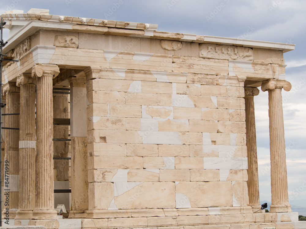 The Temple Of Athena Nike Athens Greece Foto Poster Wandbilder