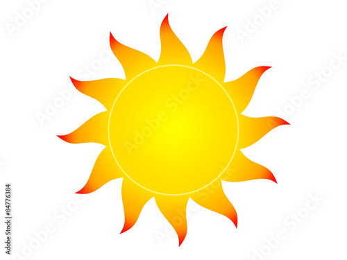 Symbol Of The Sun On A White Background Buy This Stock