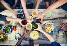 Food Table Healthy Delicious O...