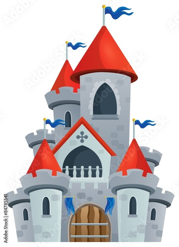 Printed kitchen splashbacks For Kids Fairy tale castle theme image 1
