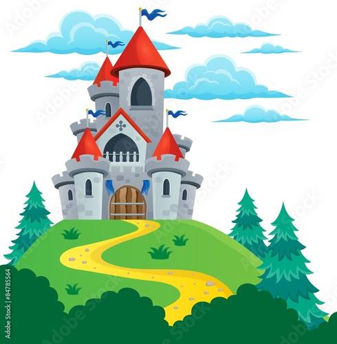 fototapeta na lodówkę Bajki zamku theme image 2
