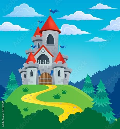 Staande foto Kasteel Fairy tale castle theme image 3