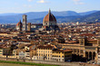 View of Florence from Michelangelo Square (Piazzale Michelangelo), Italy