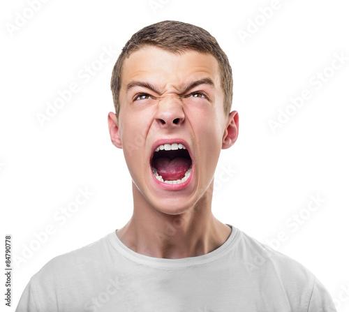 Young angry man. Fototapeta