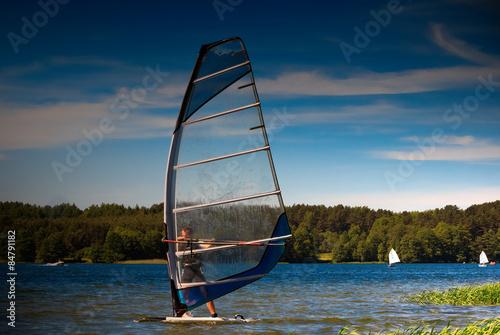 fototapeta na lodówkę Windsurfing,