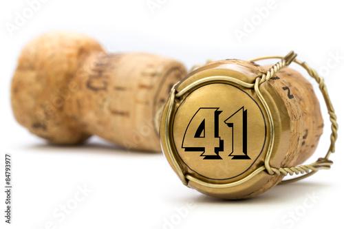 Poster  Champagnerkorken Jubiläum 41 Jahre
