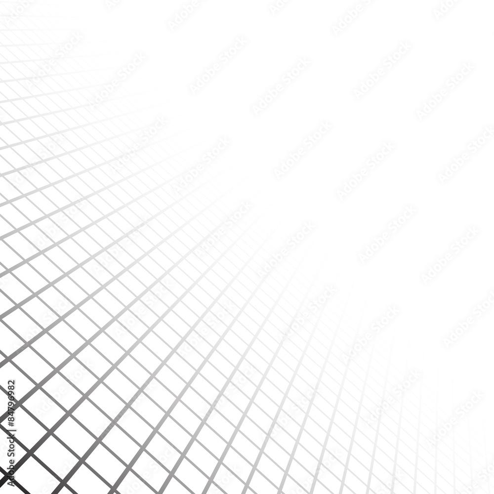 Fototapeta Perspective grid surface.