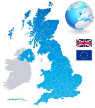 Vector Map Set Of United Kingdom