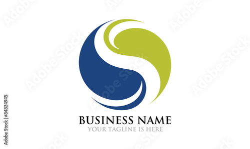 Fotografie, Obraz  Eco Yin Yang Logo