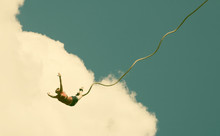 Bungee Jumping - Retro Style Photo
