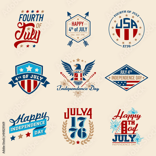 Fotografia  Fourth of July Badges
