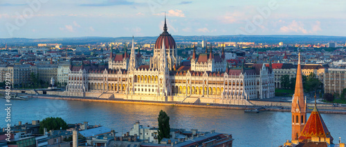 Poster Boedapest Budapest parliament