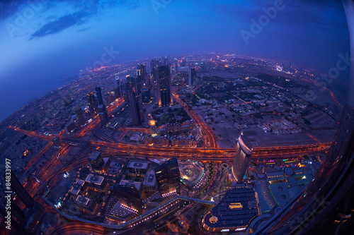Photo  Dubai night skylin