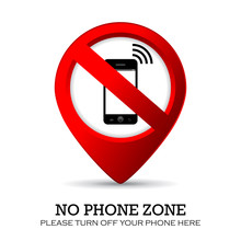 No Mobile Phone Here Sign