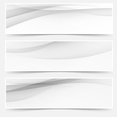 Header soft abstract line web collection