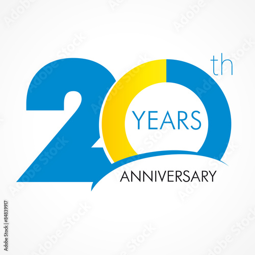 Fotografie, Obraz  20 years anniversary logo