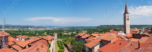Ricetto di Candelo, panoramic view. Color image Wallpaper Mural