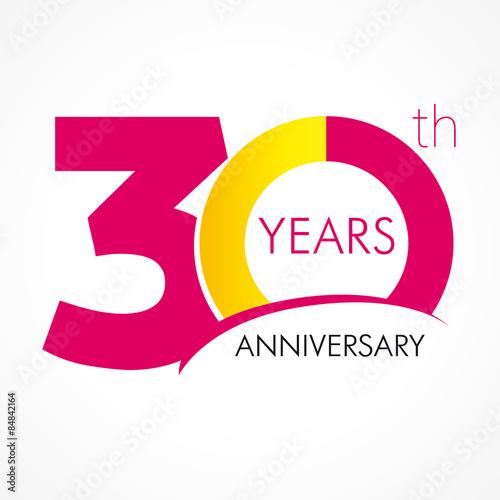 Fotografia  30 years anniversary logo