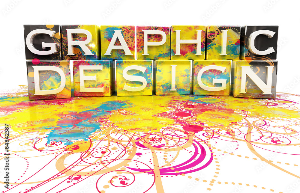 Fototapety, obrazy: Graphic design concept isolated