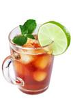 Herbata mrożona z limonką i miętą