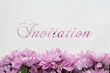 Invitation card flowers and text