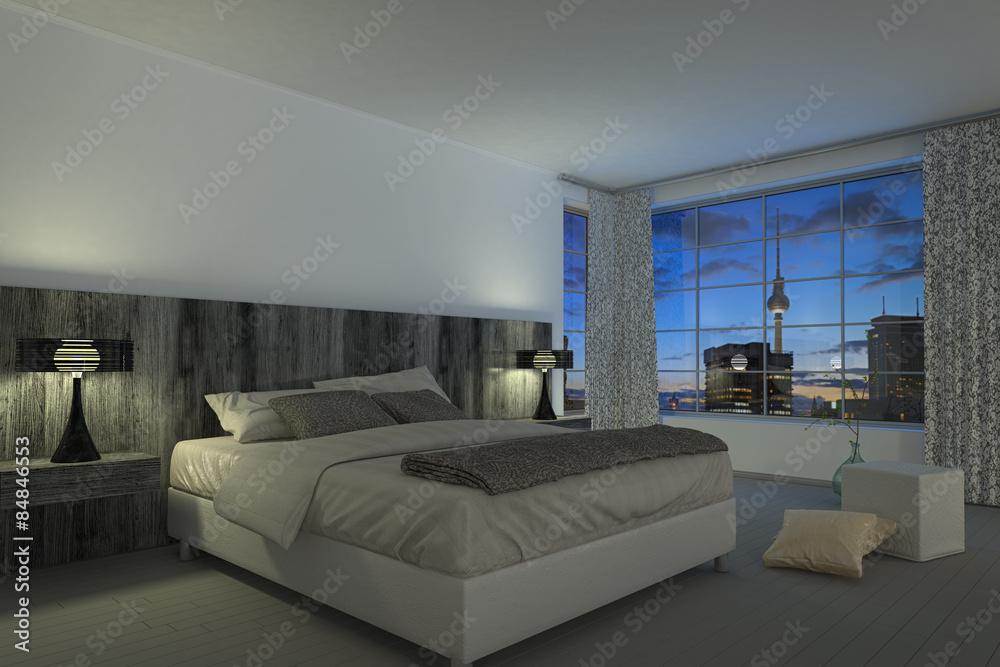 Modernes Schlafzimmer Hotelzimmer Foto Poster Wandbilder Bei