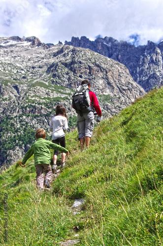 Foto op Aluminium Ontspanning randonnée en montagne - hdr
