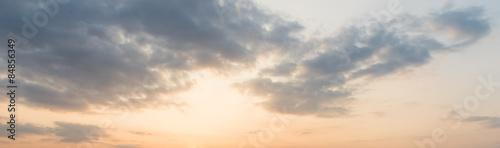 Fototapeta panoramic sunset, sky background obraz na płótnie