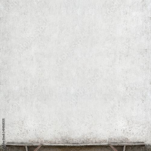 Garden Poster Concrete Wallpaper bench near the wall
