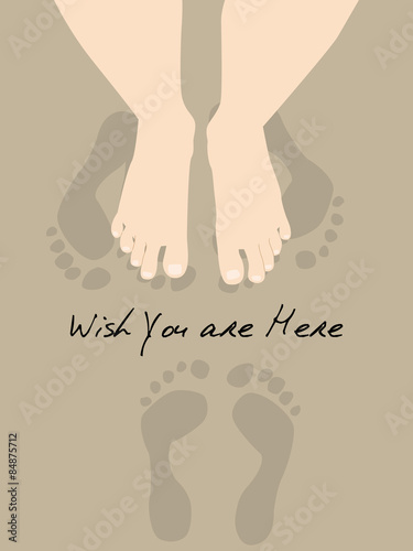 Foot for Wish You Were Here Card Wallpaper Mural