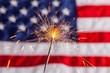 Leinwanddruck Bild - Fourth of July, Sparkler, Pyrotechnics.