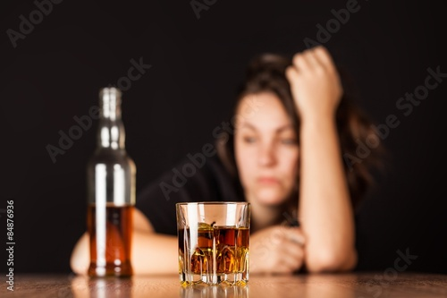 Photo sur Aluminium Bar Alcoholism, alcohol, alcoholic.