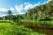 Летний пейзаж с рекой и лесом, Урал, Россия