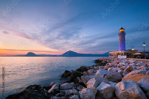 Foto op Aluminium Vuurtoren Lighthouse in Patras, Greece.