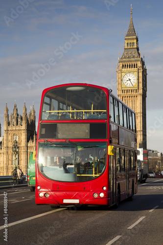 Foto op Canvas Londen rode bus UK - London - Red Double Decker Bus