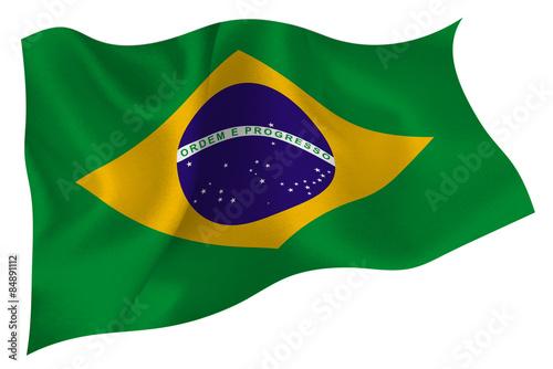 Fotografie, Obraz  ブラジル  国旗 旗