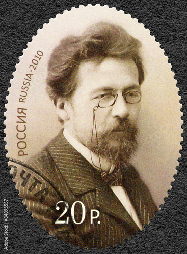 Photo  RUSSIA - CIRCA 2010: A stamp printed in Russia dedicated the 150th anniversary o