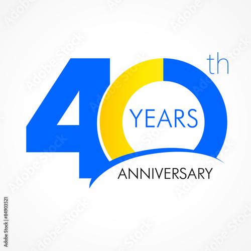 Fotografia  40 years anniversary logo
