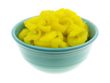 Banana Peppers In A Bowl On A ...