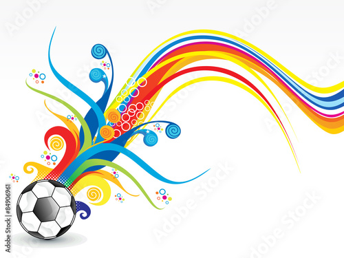 abstract colorful football explode #84906961