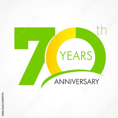 Obraz na plátně 70 years anniversary logo
