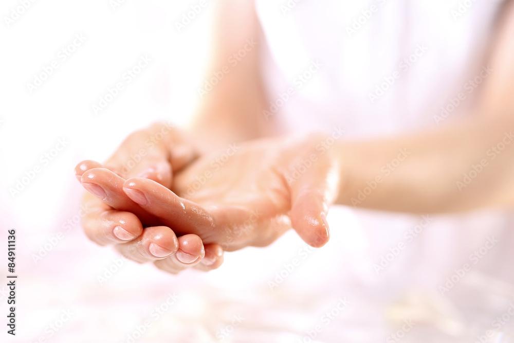 Fototapeta Akupresura, masaż dłoni