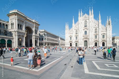 Fototapeta premium piazza del duomo milan