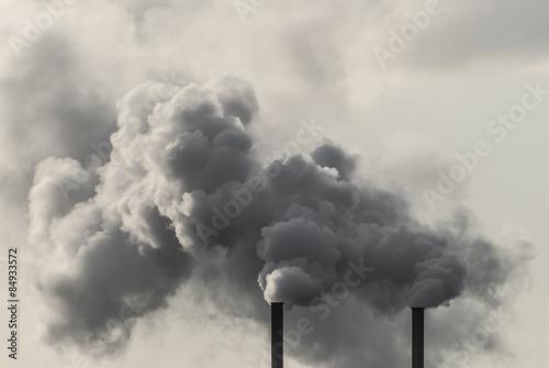 Dirty Industrial Smoke Billede på lærred