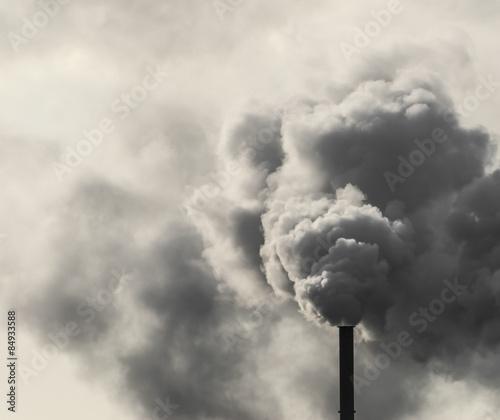 Dirty Industrial Smoke Fototapet