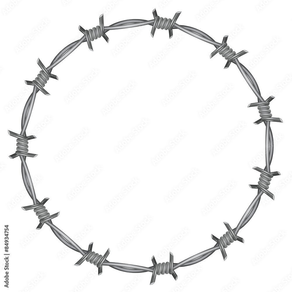 Fototapeta Frame barbed wire