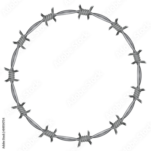 Photo Frame barbed wire
